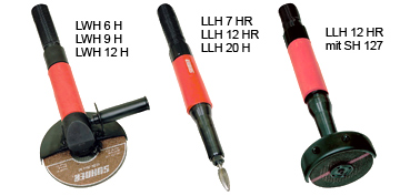 LWH & LLH series Air Tool Grinders